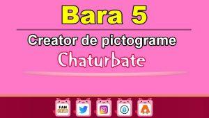 Bara 5 – Generator de pictograme social media pentru Chaturbate
