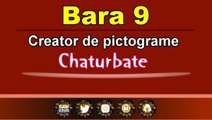 Bara 9 – Generator de pictograme social media pentru Chaturbate