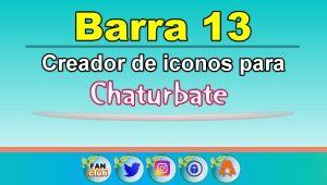 Barra 13 – Generador de iconos para redes sociales – Chaturbate