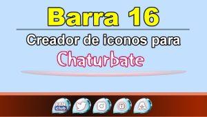 Barra 16 – Generador de iconos para redes sociales – Chaturbate