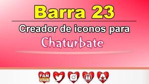 Barra 23 – Generador de iconos para redes sociales – Chaturbate