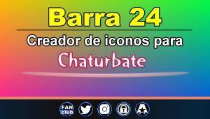 Barra 24 – Generador de iconos para redes sociales – Chaturbate