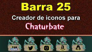 Barra 25 – Generador de iconos para redes sociales – Chaturbate
