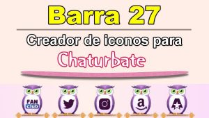 Barra 27 – Generador de iconos para redes sociales – Chaturbate