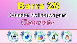 Barra 28 – Generador de iconos para redes sociales – Chaturbate