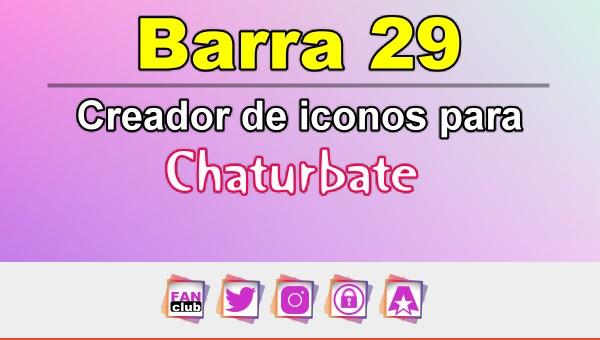 Barra 29 – Generador de iconos para redes sociales – Chaturbate