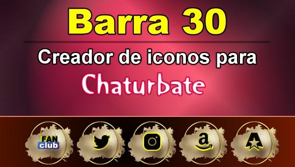 Barra 30 – Generador de iconos para redes sociales – Chaturbate