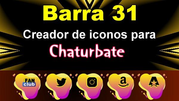 Barra 31 – Generador de iconos para redes sociales – Chaturbate