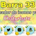 Barra 33 – Generador de iconos para redes sociales – Chaturbate