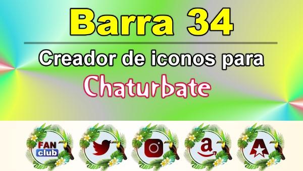 Barra 34 – Generador de iconos para redes sociales – Chaturbate