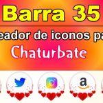 Barra 35 – Generador de iconos para redes sociales – Chaturbate