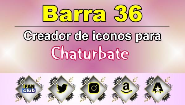 Barra 36 – Generador de iconos para redes sociales – Chaturbate