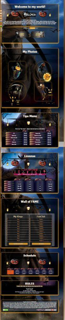 Demo Design 77 - Chaturbate BIO Halloween profile already created