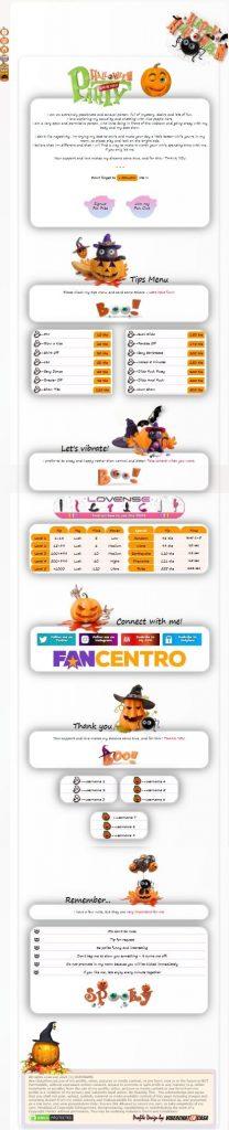 Demo Design 78 - Chaturbate BIO Halloween profile already created