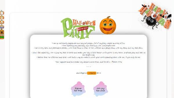 Design 78 – Chaturbate BIO profile already created